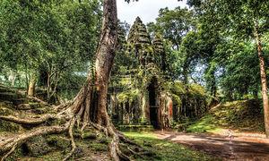 Vẻ đẹp huyền ảo của Campuchia trong mưa
