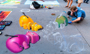 Những bức tranh đánh lừa thị giác trên đường phố Mỹ