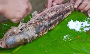 Cá trầm hương nướng nổi tiếng ở thác Bản Giốc