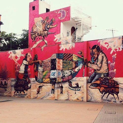 Để chọn ra được điểm đến của năm, chúng tôi phải đọc rất nhiều bài viết của tác giả trong và ngoài nước Mỹ, sau đó thu hẹp dần dựa trên tầm nhìn hướng tới sự đa dạng địa lý và các nền văn hóa. - Dan Saltzstein, biên tập viên du lịch của New York Times cho hay. Dưới đây là một số lý do làm nên thứ hạng của Mexico city:  Mexico city  thành phố đa sắc màu với những bức tường đậm chất nghệ thuật đường phố. Ảnh: Street Art Chilango