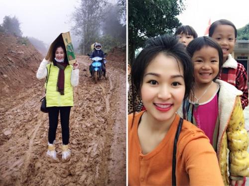 Không chỉ du lịch nước ngoài, chị Tâm còn tham gia các chuyến đi từ thiện tới các tỉnh vùng núi phía Bắc để trợ giúp các em nhỏ có hoàn cảnh khó khăn.