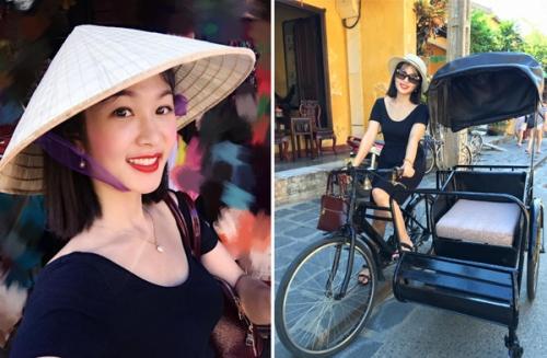 """""""Ngay cả du lịch nội địa cũng rất hấp dẫn, năm vừa rồi mình cũng đi khá nhiều nơi ở Việt Nam, nơi nào cũng có những cảnh đẹp tuyệt vời, từ đồi núi như Sa Pa, Mộc Châu, đỉnh Fansipan, suối, rừng cho đến các vùng biển như Nha Trang , Đà Nẵng, Mũi Né, cù lao Chàm... hay các khu vực mang đậm văn hoá như: phố cổ Hội An, các làng cổ, làng nghề, dù đã đi nhiều lần rồi mình vẫn muốn quay lại"""", chị Tâm cho biết."""