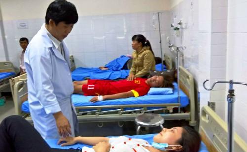 Các trường hợp cấp cứu đang được bác sĩ theo dõi.