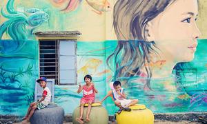 Làng chài Quảng Nam với hơn trăm bức tranh tường khổng lồ