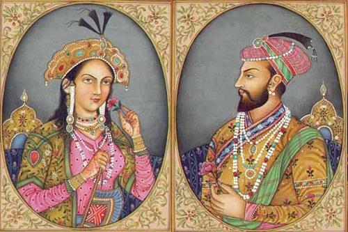 Hoàng đế Mughal và người vợ yêu dấu của mình - Hoàng hậu Mumtaz. Ảnh: Shadetreecafe