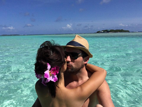 Siêu mẫu Hà Anh và chồng vẫn đang trong chuyến trăng mật tại Maldives.