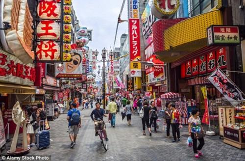 Osaka tăng trưởng du khách nhanh nhất, nhờ thu hút đông khách du lịch từ Trung Quốc và Hàn Quốc.