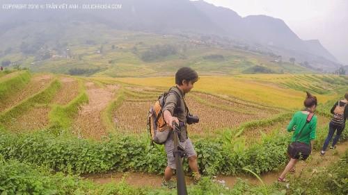 Trekking Lao Chải - Tả Van trong một ngày. Ảnh: Trần Việt Anh.