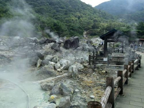 Thị trấn Unzen ở Nagasaki, khu vực Onsen nổi tiếng ở bán đảo Kyushu. Ảnh: Văn Trãi.