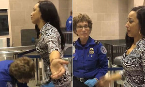 Cô gái bật khóc vì bị nhân viên sân bay khám vùng kín
