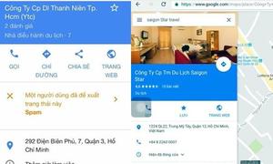 Nhiều công ty du lịch phát hiện bị sửa thông tin trên Google