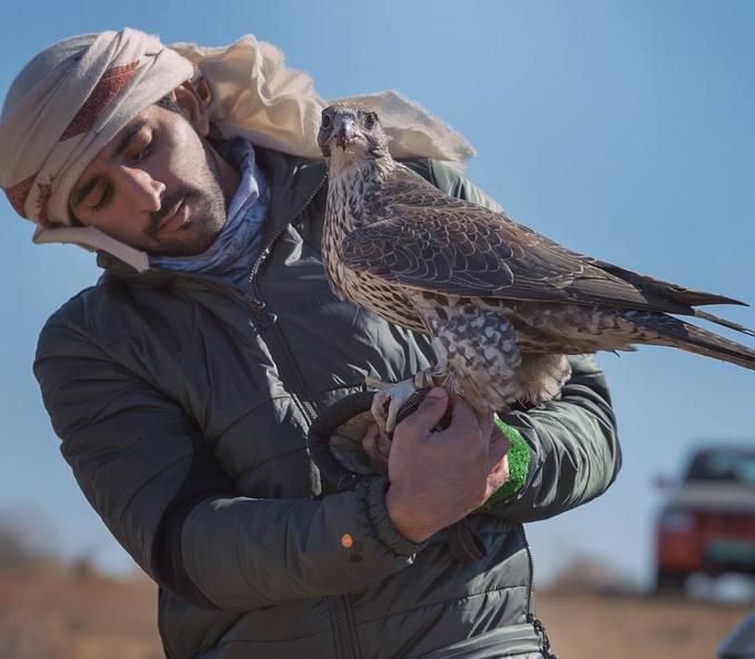 <p> Một trong những thú vui thời thượng của hoàng tử Hamdan chính là huấn luyện chim cắt.Ảnh: <em>Instagram.</em></p>
