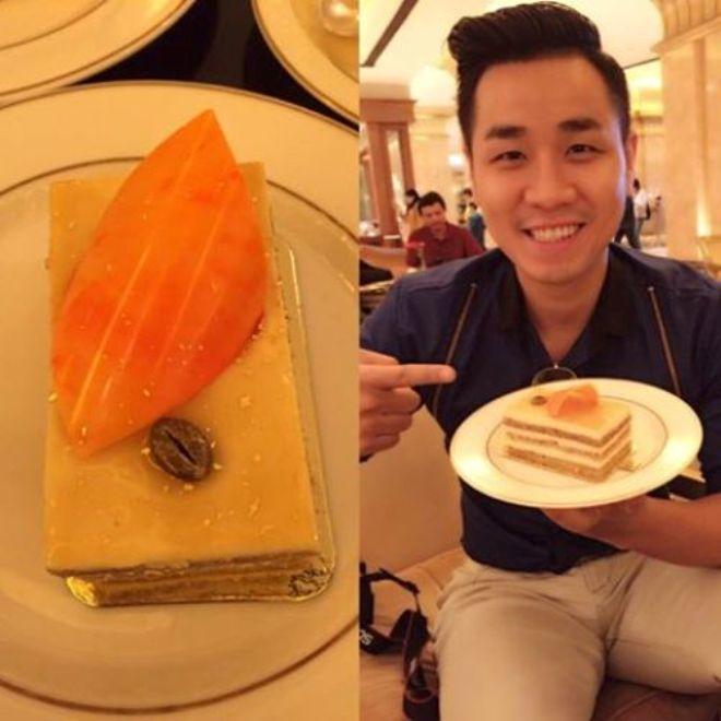 Nguyên Khang ăn bánh dát vàng, cưỡi lạc đà ở Dubai