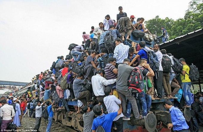 Những chuyến tàu hỏa ở Bangladesh