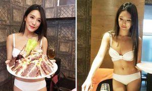 Dàn nhân viên mặc bikini phục vụ trong nhà hàng ở Đài Loan