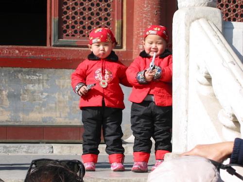 Không phải gia đình Trung Quốc nào cũng chỉ có một con. Ảnh: China Travel.