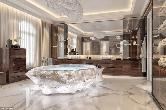 Bồn tắm triệu đô dành riêng giới nhà giàu ở Dubai