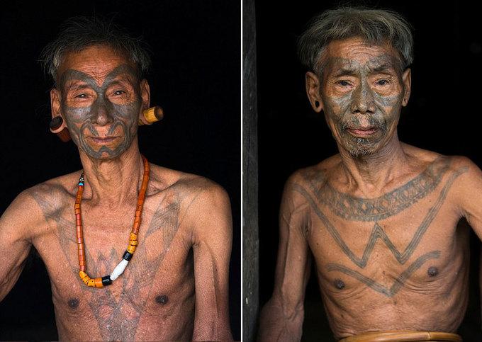 Mật mã trên da người sống của thổ dân Ấn Độ