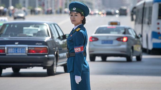 Nữ cảnh sát giao thông - biểu tượng du lịch của Bình Nhưỡng