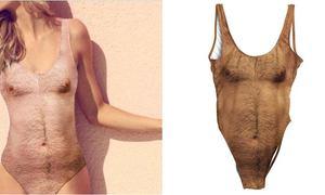Mốt bikini in hình lông ngực gây bão hè 2017