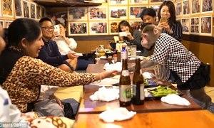 Khỉ làm bồi bàn trong quán ăn tại Nhật Bản