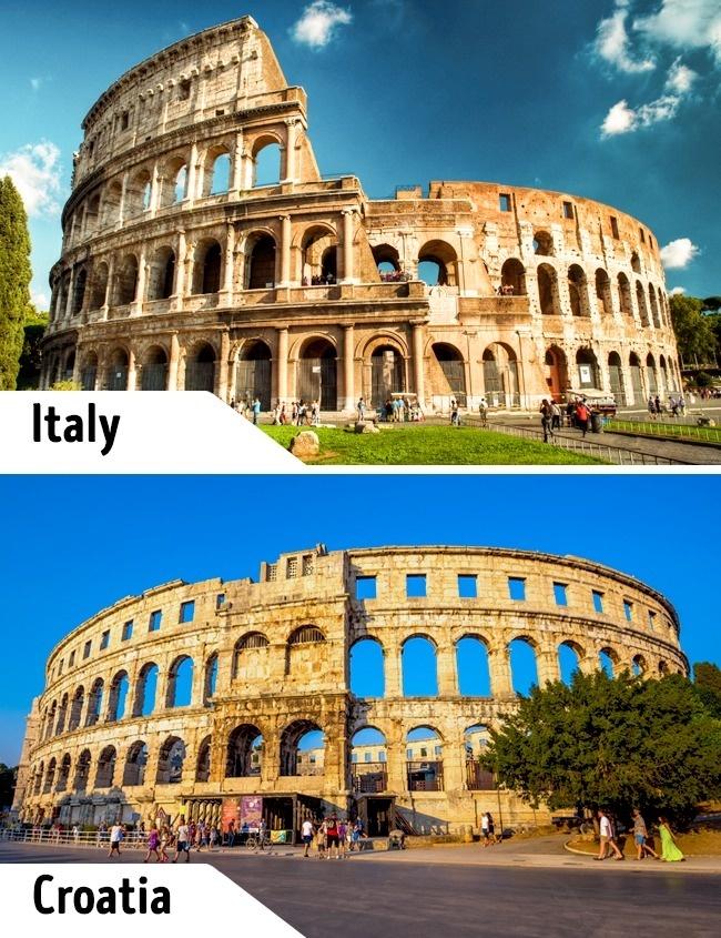 <p> Đấu trường Colosseum tại Italy là một trong những công trình lịch sử, điểm du lịch hút khách nhất trên thế giới. Nhưng ít người biết tới có một đấu trường tương tự ở Croatia. Kiến trúc thời kỳ La Mã cổ đại này nằm ở Pula, thành phố biển rộng lớn của Croatia. Công trình xưa kia là nơi cho các võ sĩ giác đấu biểu diễn thì nay được sử dụng làm hòa nhạc.</p>