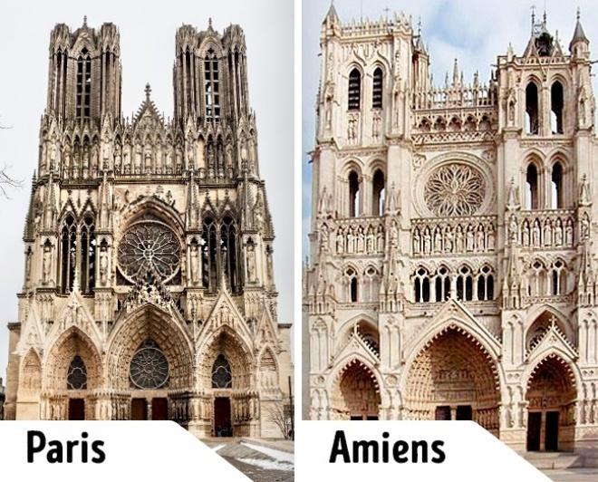 <p> Cả hai Nhà thờ Đức Bà này đều nằm ở Pháp nhưng một ở Paris, một ở Amiens. Nhà thờ ở Paris được biết tới nhiều hơn qua nhân vật<em>Esmeralda</em> của Victor Hugo bởi vậy du khách khắp nơi kéo tới tham quan. Còn nhà thờ tại Amiens không có được may mắn đó. Tuy nhiên, du khách đến nhà thờ Đức Bà ở Amiens có thể khám phá kiến trúc gothic bất kể lúc nào mà không phải chen lấn với đám đông.</p>
