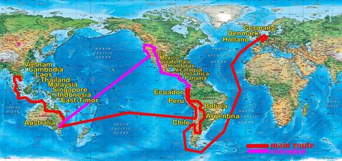 Lịch trình cho chặng đường kế tiếp lên Bắc Âu, sang Nam Mỹ, Trung Mỹ (có thể cả Bắc Mỹ), rồi sang Úc về Đông Nam Á và về Việt Nam trong 365 ngày