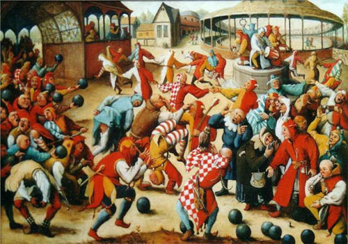Lễ hội của những kẻ điên thực sự là một hoạt động được yêu thích trong năm mới của người dân Pháp. Ảnh: Atlat.