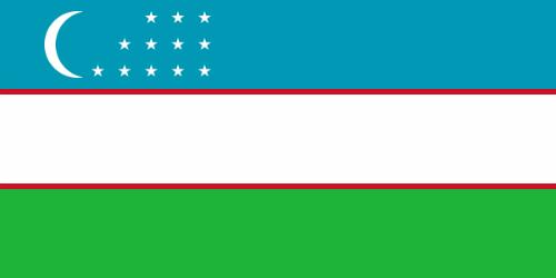 Quốc kỳ Uzbekistan có hình chữ nhật, chia làm ba phần bằng nhau theo chiều ngang, với các màu lần lượt từ trên xuống là xanh da trời, trắng và xanh lá cây. Ở góc bên trái phần màu xanh da trời có hình trăng lưỡi liềm và 12 ngôi sao xếp thành ba hàng, thứ tự lần lượt mỗi hàng là ba, bốn và năm ngôi sao. Ba phần của quốc kỳ Uzbekistan được phân chia với nhau bằng những dải màu đỏ mảnh hơn.