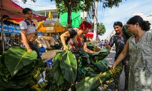 Chợ lá dong hơn nửa thế kỷ mỗi năm họp một lần ở Sài Gòn