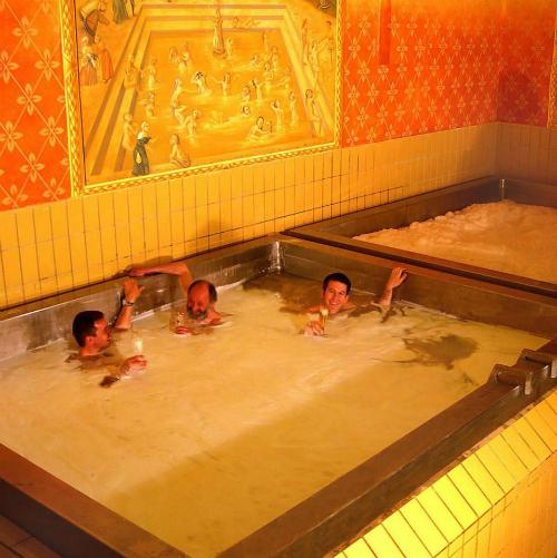 Không chỉ dừng lại ở các bồn tắm, tại Áo thậm chí còn có những bể bơibia. Khách đến các hồ bơi bia ở Schloss Starkenberger có thể đặt một trong bảy hồ bơi với giá 230 euro cho hai giờ. Các hồ bơi có chiều dài 4 mét, chứa khoảng 42.000 ly bia. Ảnh:TNI Press.