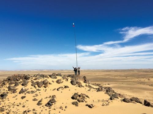 Vùng đất như sa mạc ở Bắc Phi.