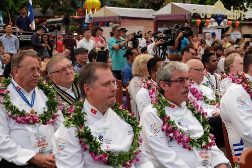 Các đầu bếp tham gia nhiều hoạt động trong lễ hội.