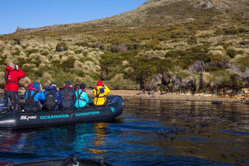 Du khách chỉ có thể tiếp cận đảo bằng thuyền. Ảnh: Oceanwide-expeditions.