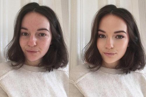 Nữ blogger hé lộ hình ảnh trước và sau khi chỉnh sửa. Ảnh:@theslowtraveler.