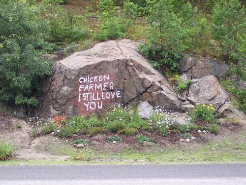 Hòn đá trở thành cột mốc đánh dấu cho du khách băng qua ngôi làng Newbury.Ảnh: Amusing.