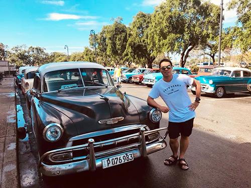 Phan Hiếu tại thủ đô Havana, Cuba. Ảnh: NVCC.