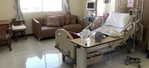 Phòng bệnh viện nơi Jane được điều trị ở Thái Lan. Ảnh: News.