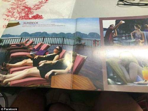 Đây là những hình ảnh quảng cáo mà nhóm của Lynne đọc được khi giới thiệu về chiếc tàu mà cô dự định đặt tour 2 ngày 1 đêm tham quan vịnh Hạ Long. Ảnh: News.