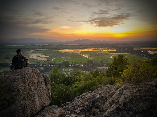 Trên đỉnh núi Sam. Ảnh:C.Herzog.