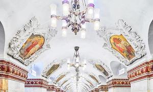 Những ga tàu điện ngầm đẹp như cổ tích của Moskva, Nga