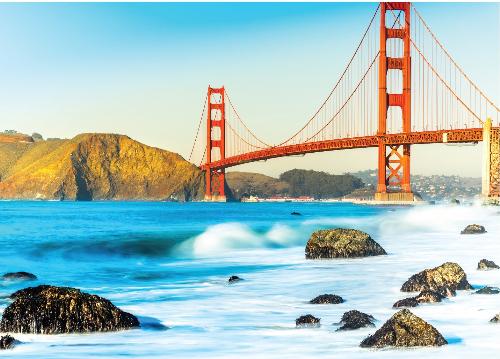Cầu Cầu Vàng - cầu đẹp và lãng mạn tại San Francisco.