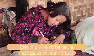 Bé gái 11 tuổi nuôi cả nhà 8 người ở Myanmar