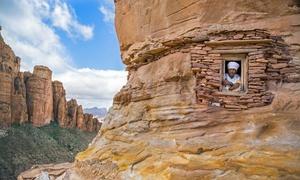 Nhà thờ đá trên vách núi dựng đứng cao 200m ở Ethiopia