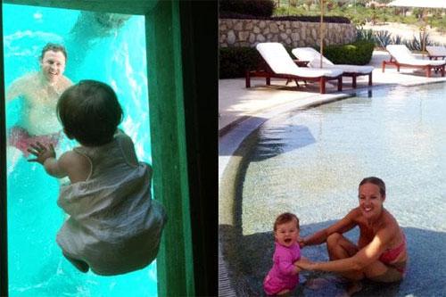 Vợ và con gái của Tim cũng theo anh trong các chuyến du lịch. Ảnh: News.