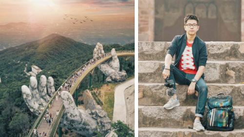 Bức ảnh cầu Vàng do Jason chụp được nhiều báo, trang web sử dụng. Ảnh: Instagram.
