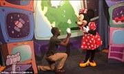 Chuột Mickey nổi giận khi bạn gái được du khách cầu hôn
