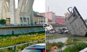 Hình ảnh đối lập trước và sau thảm họa sập cầu tại Italy