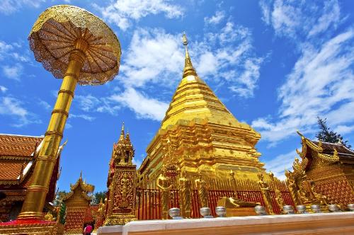 Vẻ đẹp của Phrathat Doi Suthep. Ảnh: Shutterstock.